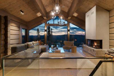 Glassrekkverk til hytte trapper